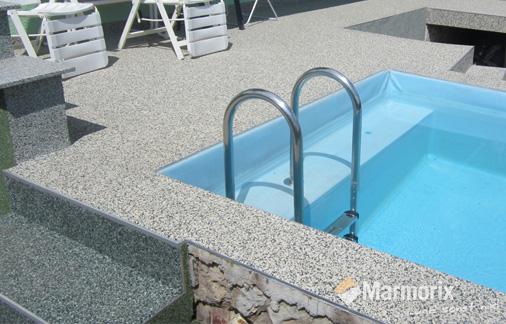 Marmorix Steinteppich Poolterrasse und Treppe