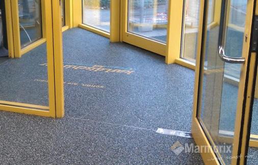 Marmorix steinteppich verlegebeispiele gewerbebereich for Boden eingangsbereich