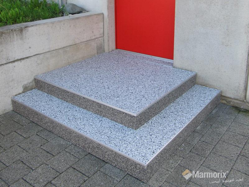 Außentreppensanierung marmorix steinteppich verlegebeispiele treppen