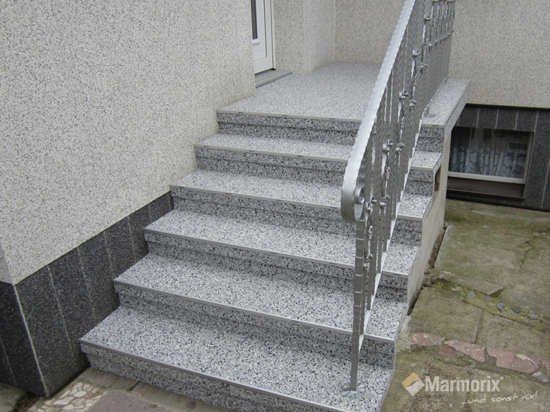 Marmorix Steinteppich Verlegebeispiele Treppen - Kellertreppe fliesen anleitung