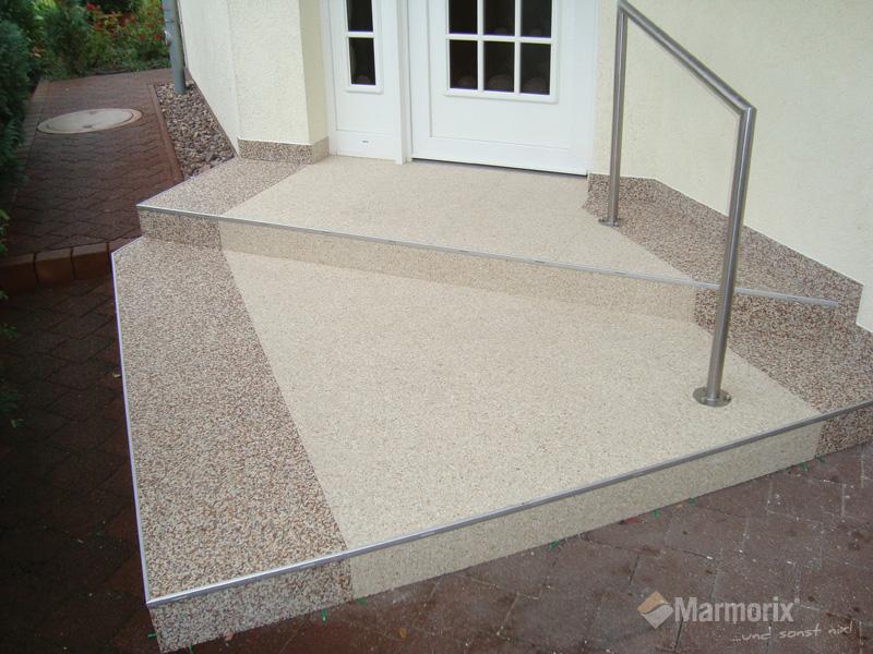 Bevorzugt Marmorix® - Steinteppich Verlegebeispiele | Treppen QW14